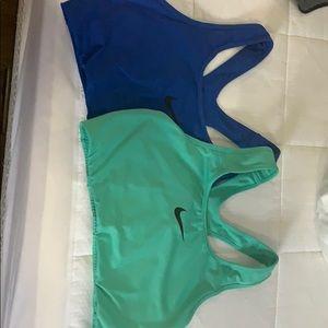 2 Nike Dry Fit Sports Bras